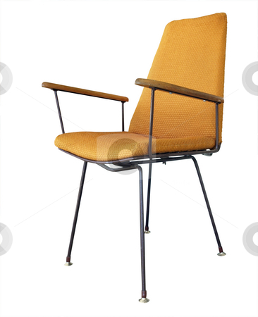Orange Chair stock photo, Orange Chair isolated with clipping path by Margo Harrison