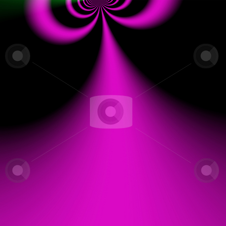 Double tunnel stock photo, Pink and purple double tunnel with black background by Michael Travers