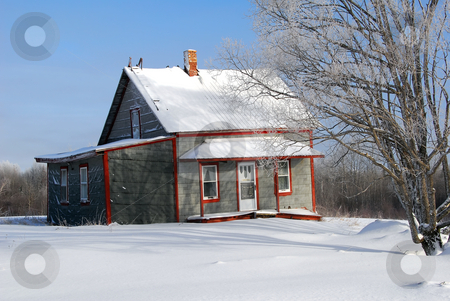 Abandoned House stock photo, Picture of an abandoned farming house in Winter by Alain Turgeon