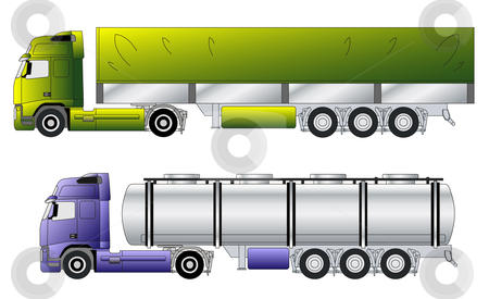 New european truck stock vector clipart,  by Mihaly Pal Fazakas
