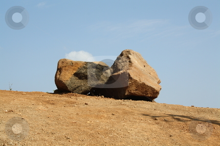 Rocks On The Edge stock photo, Two Rocks Beautifully Placed by Nature On The Edge by Bhavesh Chhatbar