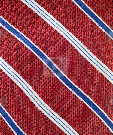 Neck Tie Background stock photo, Closeup view of a striped neck tie, could be used as a background by Richard Nelson