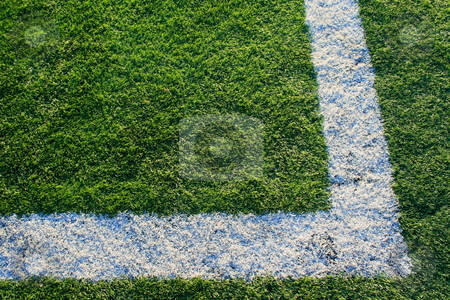 Artificial Turf on a Sports Field stock photo,  by Michael Felix