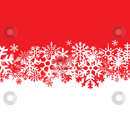 Snowflakes Layout stock photo, A snowflakes background texture that can be used as a border or edge on your design. by Todd Arena