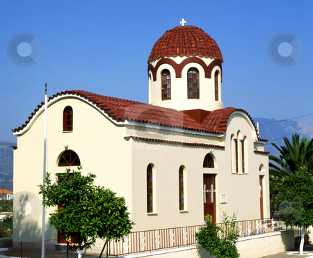 Kefalonia church stock photo, Church on the Greek island of Kefalonia by Paul Phillips