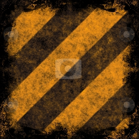 Grunge Hazard Stripes stock photo, Diagonal hazard stripes texture.  These are weathered, worn and grunge-looking. by Todd Arena