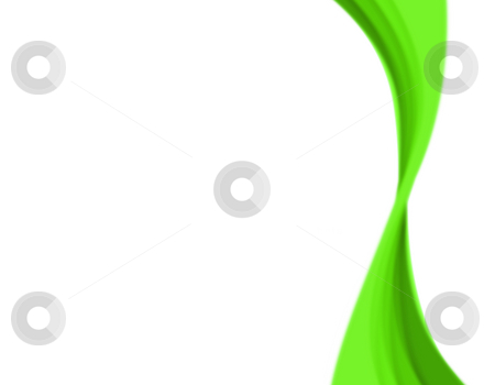Abstract Green Swirl stock photo, A wavy abstract layout - great for use as a design template or background. by Todd Arena