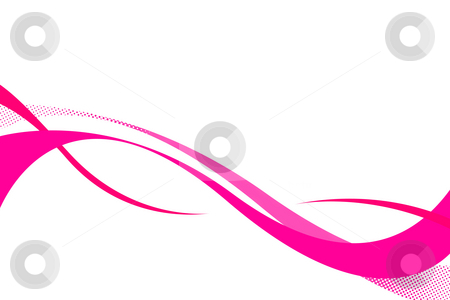 Pink Swooshes stock photo, Colorful three dimensional flowing curves layout with plenty of copy space. by Todd Arena
