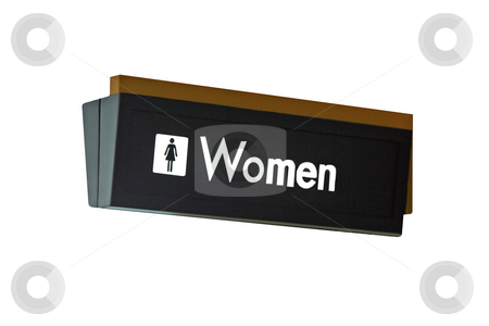 Womens Restroom Sign stock photo, A isolation of a nice womens restroom sign by Kevin Tietz