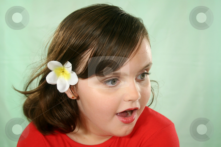 Flabbergasted Little Girl stock photo, Little girl looking to camera right with a flabbergasted look. by Brett Mulcahy