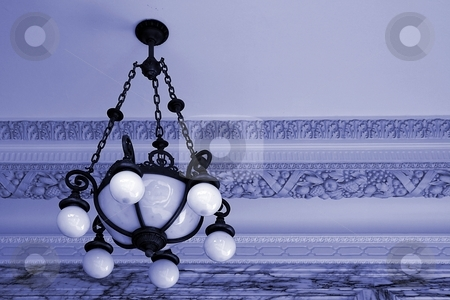 Light stock photo, Light fixture in the entry way of the Ventura city hall by Henrik Lehnerer