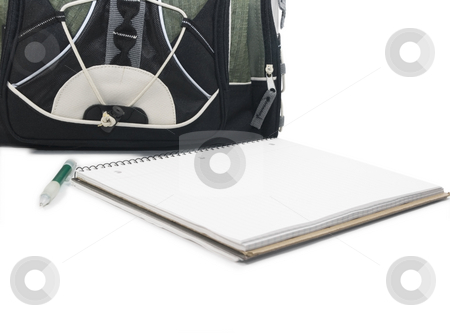 School supplies stock photo, School Supplies on white background by John Teeter