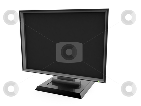 Plasma television stock photo, Three dimensional plasma television with white background by Imagery Majestic