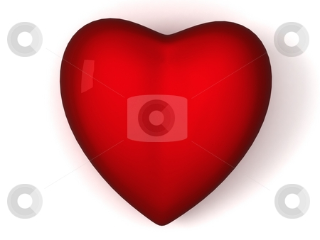 Front view of red heart stock photo, Front view of 3d red heart on an isolated background by Imagery Majestic
