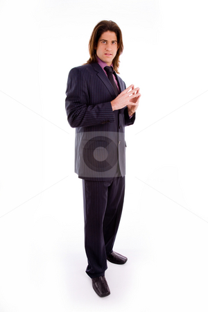 Full body of young businessman stock photo, Full body of young businessman against white background by Imagery Majestic