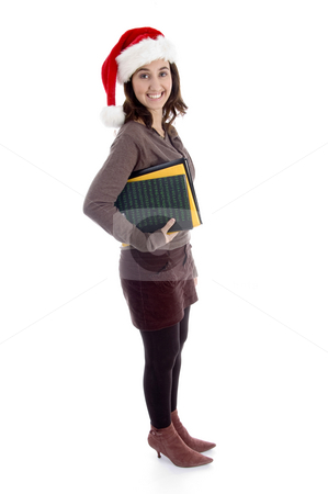 Full body pose of female student stock photo, Full body pose of female student against white background by Imagery Majestic