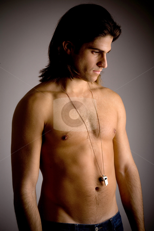 Front view of strong male stock photo, Front view of strong male by Imagery Majestic