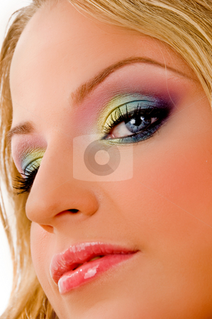 Close up of gorgeous model stock photo, Close up of gorgeous model on an isolated background by Imagery Majestic