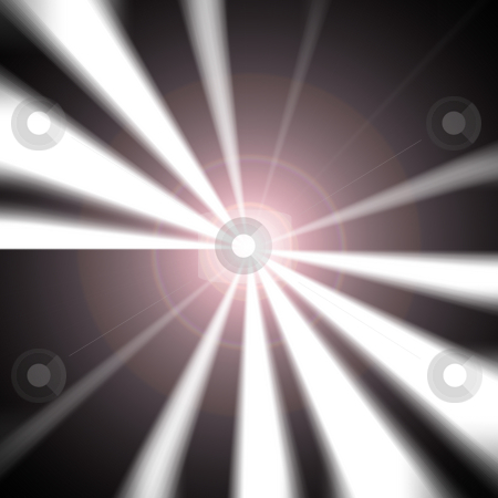 Lens flare vortex stock photo, A black and white vortex with a lens flare right in the middle. by Todd Arena