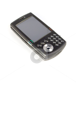 Isolated Smart Phone stock photo, A modern cell phone isolated over white. by Todd Arena