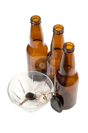 Designated Driver Concept stock photo, A designated driver put his car keys in a glass bowl by Richard Nelson