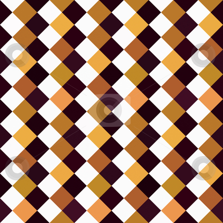 Checkered  pattern stock photo, Seamless texture of brown, black and white checks by Wino Evertz