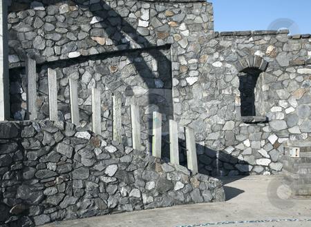 Stone wall stock photo,  by DAVID HILCHER