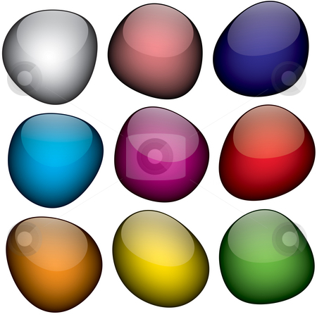 Jelly Beans stock photo, An arrangement of colorful shapes that look just like jelly beans. by Todd Arena