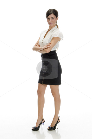 Standing glamorous female stock photo, Standing glamorous female on an isolated background by Imagery Majestic