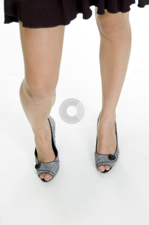 Sexy legs of female stock photo, Sexy legs of female over white by Imagery Majestic