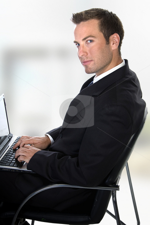 Successful businessman  stock photo, Successful businessman on an abstract  background by Imagery Majestic