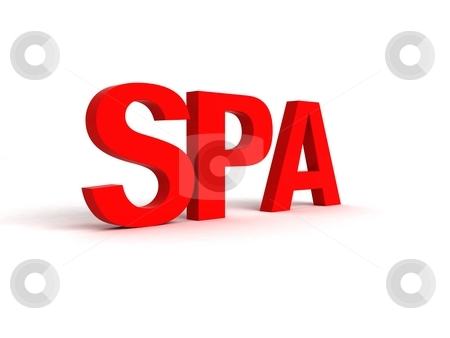 Three dimensional side view of spa word stock photo, Three dimensional view of spa word by Imagery Majestic