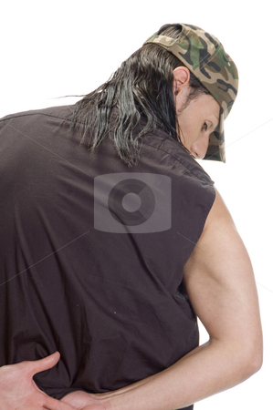 Male posing from back side stock photo, Young male posing from back side by Imagery Majestic