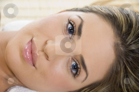 Close view of the beautiful face of woman stock photo, Close view of the beautiful face of woman by Imagery Majestic
