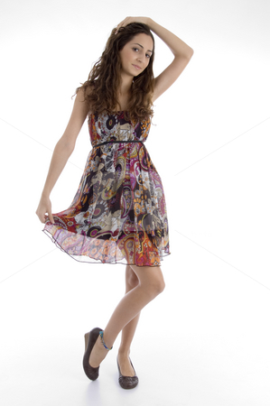 Full body pose of attractive young female stock photo, Full body pose of attractive young female with white background by Imagery Majestic