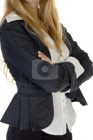 Woman with folded hands stock photo, Woman with folded hands on an isolated background by Imagery Majestic