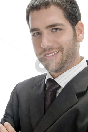 Smart caucasian businessman stock photo, Smart caucasian businessman against white background by Imagery Majestic