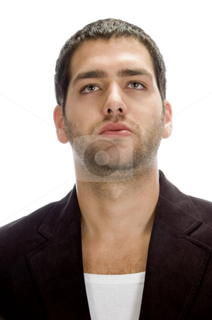 Front view of young handsome man stock photo, Front view of young handsome man on an isolated white background by Imagery Majestic
