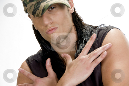 Cool man with cap stock photo, Cool young man with cap by Imagery Majestic