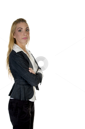 Stylish pose of woman stock photo, Stylish pose of woman on an isolated background by Imagery Majestic