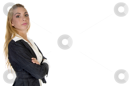 Stylish pose of businessperson stock photo, Stylish pose of businessperson on an isolated background by Imagery Majestic