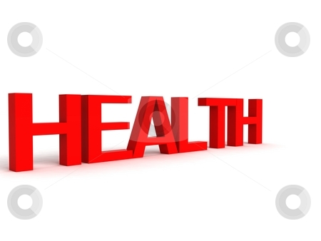 Three dimensional letters of health stock photo, Three dimensional letters of health against white background by Imagery Majestic