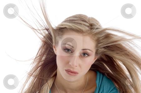 Close up of beautiful woman stock photo, Close up of beautiful woman on an isolated background by Imagery Majestic