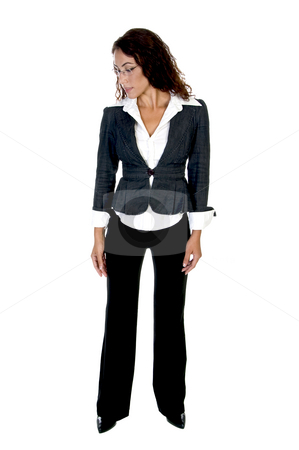 Slim lady stock photo, Slim lady with white background by Imagery Majestic