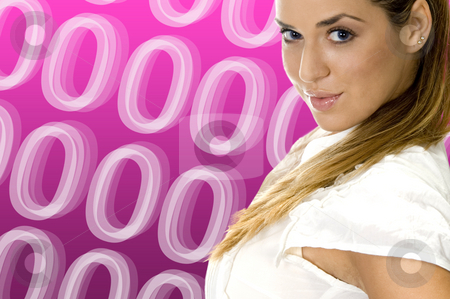 Gorgeous blond women  stock photo, Gorgeous blond women on abstract background by Imagery Majestic