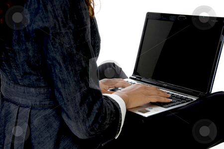 Fingers on keyboard stock photo, Fingers on keyboard of laptop by Imagery Majestic