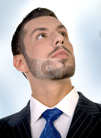 Portrait of executive stock photo, Portrait of executive on an abstract  background by Imagery Majestic
