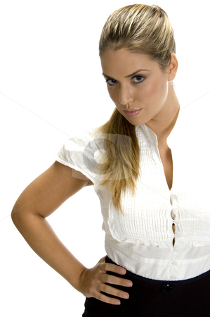 Smart woman looking to camera stock photo, Smart woman looking to camera by Imagery Majestic