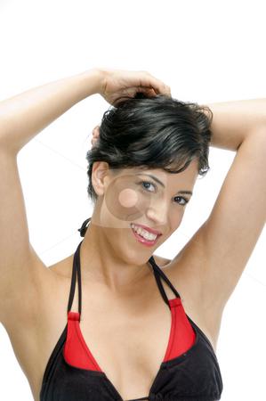 Sexy woman in bikini stock photo, Sexy woman in bikini on an isolated white background by Imagery Majestic