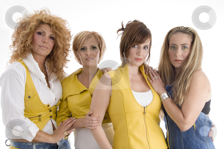Group of adult females stock photo, Group of adult females with white background by Imagery Majestic